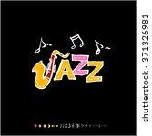 music poster illustration  ... | Shutterstock .eps vector #371326981