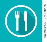 food circle icon vector eps10 ... | Shutterstock .eps vector #371328475