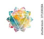 chakra manipura icon  ayurvedic ... | Shutterstock .eps vector #371330284