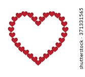 array red heart of heart | Shutterstock . vector #371331565
