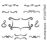 hand drawn borders and frame... | Shutterstock .eps vector #371337565