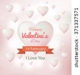 heart love valentine concept... | Shutterstock .eps vector #371337571