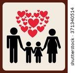 love card design  | Shutterstock .eps vector #371340514