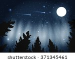 northern lights. galaxy with... | Shutterstock .eps vector #371345461