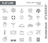 set of modern simple line icons ... | Shutterstock .eps vector #371353537