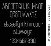 chalk san serif font alphabet... | Shutterstock .eps vector #371367217