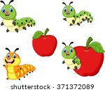cartoon funny caterpillar... | Shutterstock .eps vector #371372089