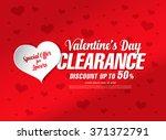 valentine's day sale banner | Shutterstock .eps vector #371372791