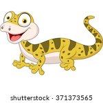 cute lizard posing isolated on...