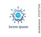 m letter vector logo template ... | Shutterstock .eps vector #371377141