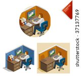 work isometric | Shutterstock .eps vector #37137769