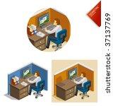 work isometric | Shutterstock .eps vector #37137769
