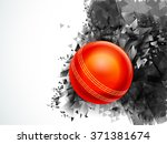 glossy red ball on creative... | Shutterstock .eps vector #371381674