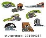 road tunnels symbols for travel ... | Shutterstock .eps vector #371404357
