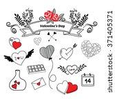 hand draw valentine's day   Shutterstock .eps vector #371405371