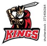 king knight mascot   Shutterstock .eps vector #371406364