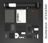identity mock up. set of blank...   Shutterstock . vector #371416564