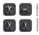 scissors icons. hairdresser or... | Shutterstock .eps vector #371418841