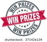 win prizes red round grunge...   Shutterstock .eps vector #371426134