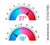 celsius and fahrenheit round... | Shutterstock .eps vector #371427481