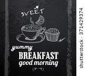menu written in chalk on a... | Shutterstock .eps vector #371429374