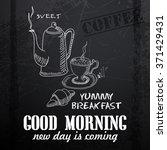 menu written in chalk on a... | Shutterstock .eps vector #371429431