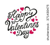 happy valentines day card... | Shutterstock .eps vector #371430475