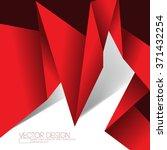 origami inspired folded paper... | Shutterstock .eps vector #371432254