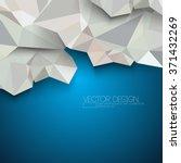 triangular polygons crumple... | Shutterstock .eps vector #371432269