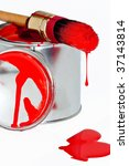 paint can with dripping brush... | Shutterstock . vector #37143814