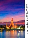landmark of bangkok temple of... | Shutterstock . vector #371439775