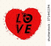 stylish text love on creative... | Shutterstock .eps vector #371441194