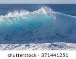 shorebreak ocean wave in... | Shutterstock . vector #371441251