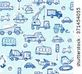baby cars seamless pattern.... | Shutterstock . vector #371454055