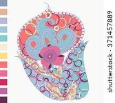 henna floral tattoo design ...   Shutterstock .eps vector #371457889