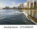 hawaii   oahu   honolulu and... | Shutterstock . vector #371458459
