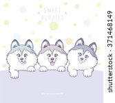 cute and funny cartoon three... | Shutterstock .eps vector #371468149