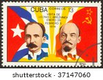 cuba circa 1974  the soviet...   Shutterstock . vector #37147060