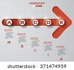 5 steps order on progress arrow ... | Shutterstock .eps vector #371474959