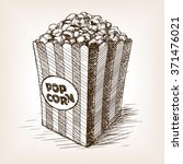 pop corn sketch style  vector... | Shutterstock .eps vector #371476021