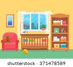 baby room with furniture....   Shutterstock .eps vector #371478589