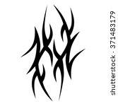 tribal tattoo vector design... | Shutterstock .eps vector #371483179