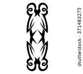 tribal tattoo vector design... | Shutterstock .eps vector #371483275