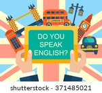do you speak english  english... | Shutterstock .eps vector #371485021