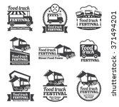 Food Truck Festival Emblems An...