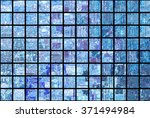 bright abstract mosaic blue... | Shutterstock . vector #371494984
