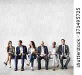 business people meeting... | Shutterstock . vector #371495725