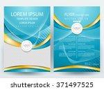 abstract vector modern flyers... | Shutterstock .eps vector #371497525