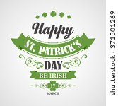 happy saint patrick's day... | Shutterstock . vector #371501269