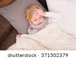 little sick child lying on... | Shutterstock . vector #371502379